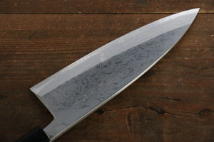 [Left Handed] Hideo Kitaoka White Steel No.2 Damascus Deba Japanese Chef Knife 180mm