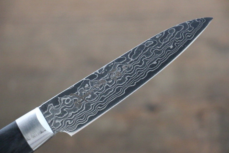 Sakai Takayuki AUS10 45 Layer Mirrored Damascus  Petty Japanese Chef Knife 80mm - Japanny - Best Japanese Knife