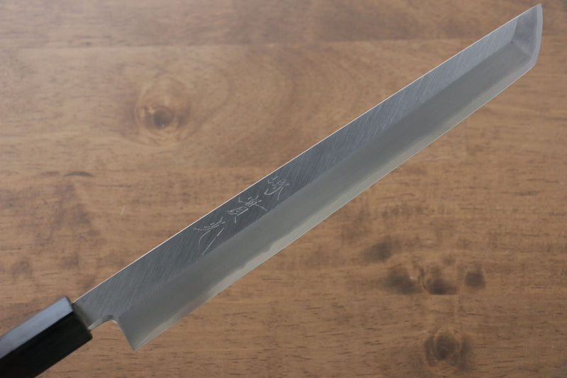 Jikko Silver Steel No.3 Sakimaru Yanagiba Japanese Knife 240mm Shitan Handle - Japanny - Best Japanese Knife
