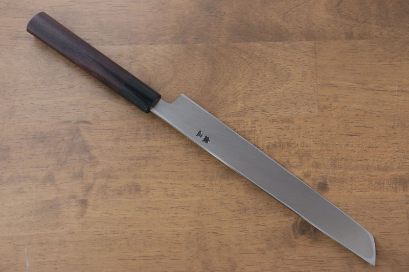 Jikko Silver Steel No.3 Sakimaru Yanagiba Japanese Knife 210mm Shitan Handle - Japanny - Best Japanese Knife