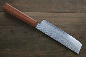 Sakai Takayuki 45 Layer Damascus Hammered Nakiri Japanese Chef Knife 160mm With Chinese Quince Handle