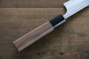 Yamamoto Silver Steel No.3 Nashiji Petty Japanese Chef Knife 120mm with Walnut Handle