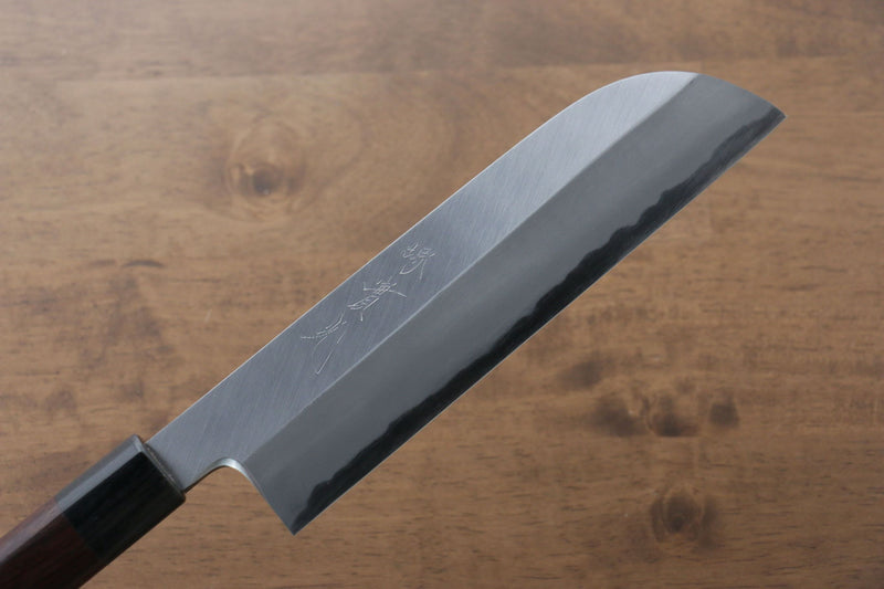 Jikko White Steel No.2 Kamagata Usuba Japanese Knife 195mm Shitan Handle - Japanny - Best Japanese Knife