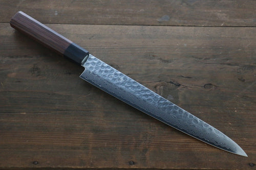 Seisuke AUS-10 45 Layer Damascus Japanese Sujihiki-Slicer Chef Knife 240mm - Japanny - Best Japanese Knife