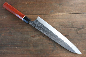 Yu Kurosaki Blue Super Clad Hammered Kurouchi Gyuto Japanese Chef Knife 240mm with Padoauk Handle