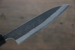 Yu Kurosaki Blue Super Clad Hammered Kurouchi Petty Japanese Chef Knife 120mm
