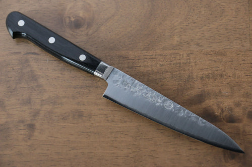 Takamura Knives VG10 Hammered Petty-Utility Japanese Knife 130mm Black Pakka wood Handle - Japanny - Best Japanese Knife