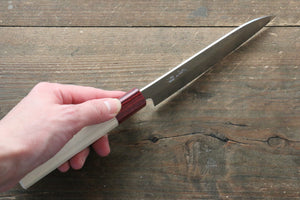 Seisuke VG10 16 Layer Hammered Damascus Petty-Utility Japanese Knife 135mm with Magnolia Handle