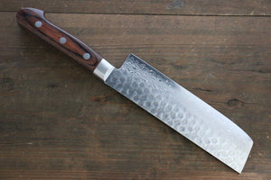 Seisuke VG10 17 Layer Damascus Hammered Japanese Chef Nakiri Vegetable Knife 160mm