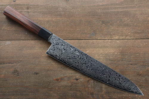 Seisuke AUS10 Damascus Gyuto Japanese Knife 240mm with Shitan Handle - Japanny - Best Japanese Knife