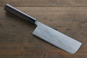 Kanetsune White Steel No.2 11 Layer Damascus Nakiri Japanese Chef Knife 165mm Shitan Handle