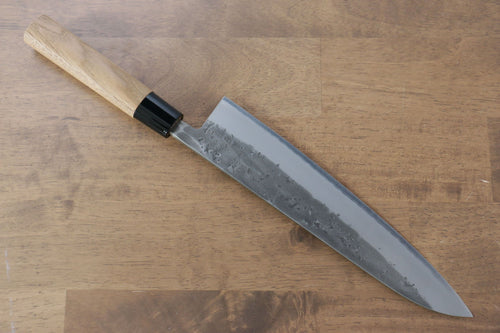 Seisuke Blue Steel No.2 Nashiji Gyuto Japanese Knife 240mm Chestnut Handle - Japanny - Best Japanese Knife