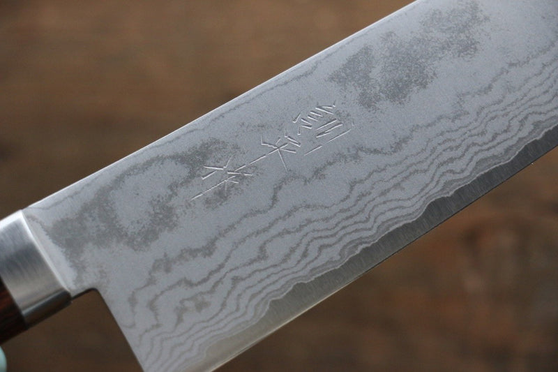 Kunihira VG1 Damascus Santoku Japanese Chef Knife 170mm - Japanny - Best Japanese Knife