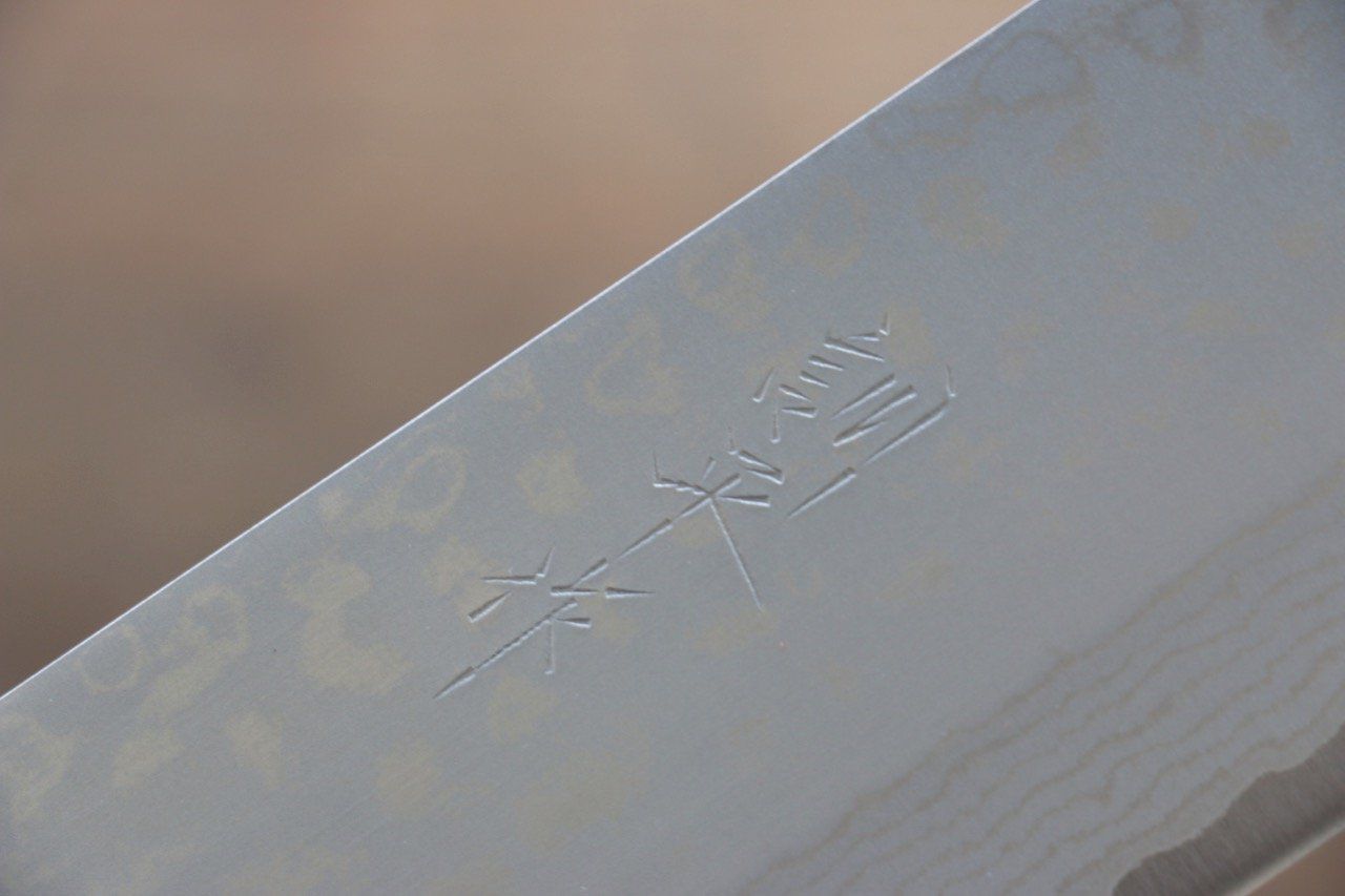 Kunihira Sairyu VG10 Damascus Nakiri Japanese Chef Knife 165mm - Japanny - Best Japanese Knife