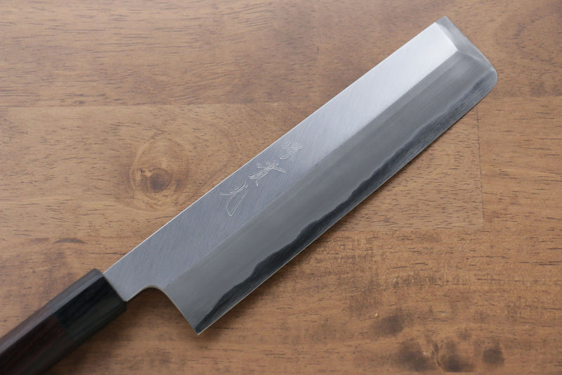 Jikko White Steel No.2 Usuba Japanese Knife 210mm Shitan Handle - Japanny - Best Japanese Knife