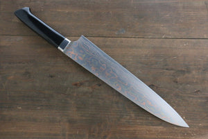 Takeshi Saji Colored Damascus Gyuto Japanese Chef Knife 270mm with Maki-e Art