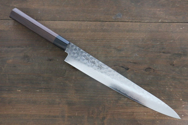 Sakai Takayuki 45 Layer Damascus Japanese Chef's Sujihiki Knife 240mm with Shitan Handle