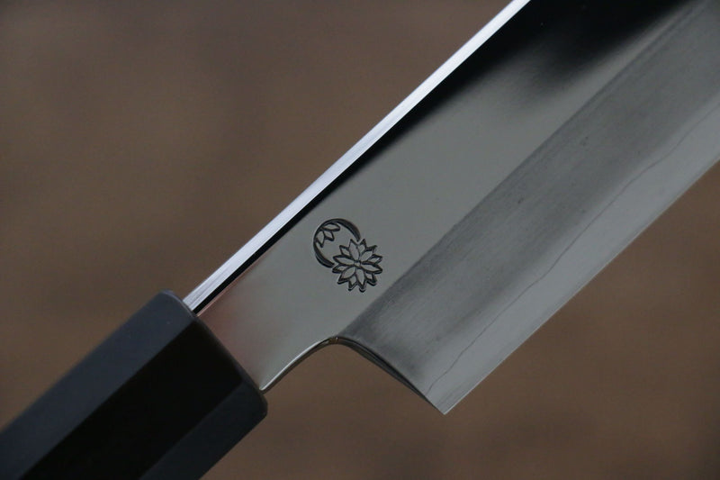 Choyo Silver Steel No.3 Mirrored Finish Kengata Yanagiba Japanese Knife 300mm Magnolia Handle - Japanny - Best Japanese Knife