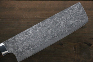 Takeshi Saji R2/SG2 Black Damascus Nakiri Japanese Chef Knife 165mm with Iron Wood handle