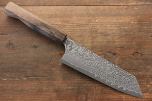 Yoshimi Kato R2/SG2 Damascus Bunka Japanese Knife 165mm with Black Persimmon Handle D