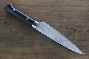 Takeshi Saji VG10 Black Damascus Petty Japanese Chef Knife 150mm with Black Micarta Handle