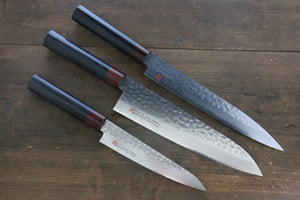 Iseya VG10 33 Layer Damascus Japanese, Gyuto 210mm, Petty 150mm & Sushi Knife 210mm Set
