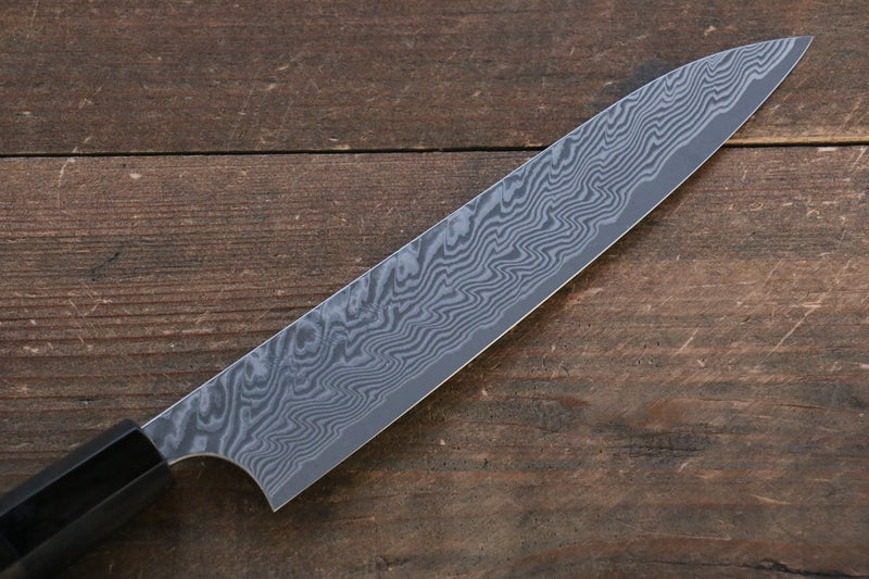 Yoshimi Kato R2/SG2 Damascus Petty-Utility Japanese Knife 150mm with Lacquered Handle with Saya - Japanny - Best Japanese Knife