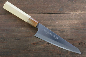 Hideo Kitaoka Blue Steel No.2 Damascus Honesuki Boning Japanese Knife 150mm with Magnolia Handle
