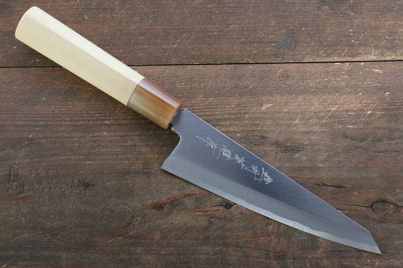 Hideo Kitaoka Blue Steel No.2 Damascus Honesuki Boning Japanese Knife 150mm with Magnolia Handle - Japanny - Best Japanese Knife
