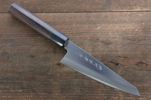Hideo Kitaoka Blue Steel No.2 Damascus Honesuki Boning Japanese Knife 150mm with Shitan Handle