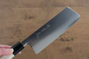 Yoshimi  Kato Silver Steel No.3 Damascus Gyuto Japanese Chef Knife 240mm with Brown Lacquered Handle with Saya