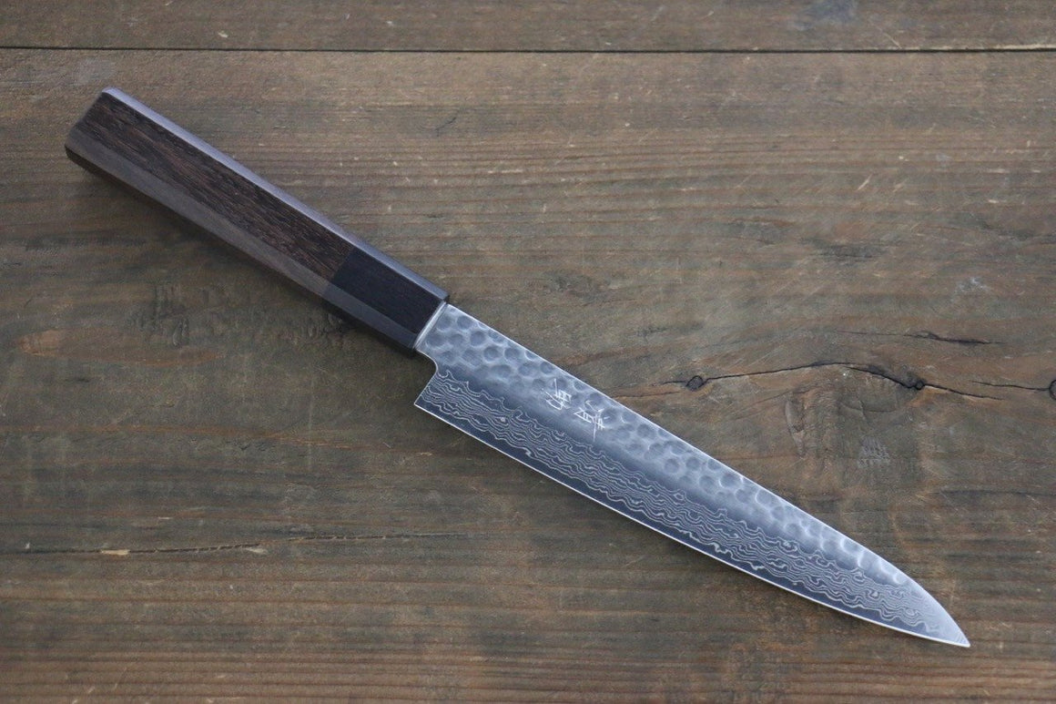 Seisuke AUS-10 45 Layer Damascus Japanese Chef's Petty Utility Knife 150mm