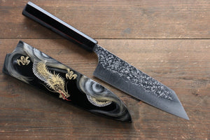 Yu Kurosaki Shizuku R2/SG2 Hammered Bunka Japanese Knife 165mm with Lacquered Handle with Saya (Dragon)