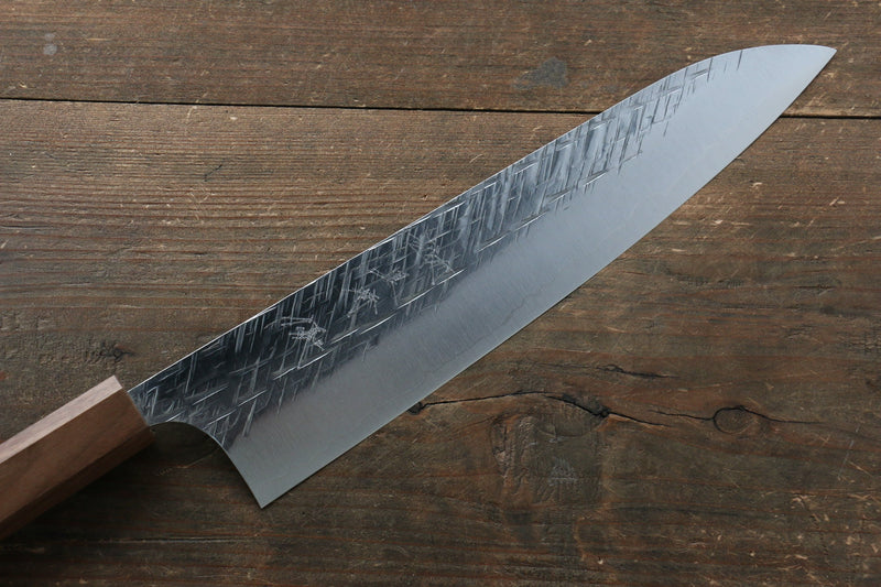 Yu Kurosaki Raijin Cobalt Special Steel Hammered Gyuto Japanese Knife 240mm Walnut Handle - Japanny - Best Japanese Knife