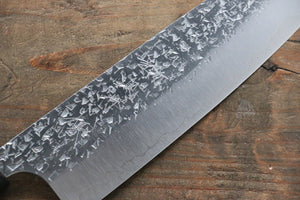 Yu Kurosaki Shizuku R2/SG2 Hammered Santoku Japanese Knife 165mm with Lacquered Handle with Saya (Dragon)