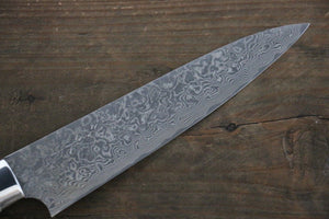 Takeshi Saji R2/SG2 Black Damascus Petty Japanese Chef Knife 150mm with Deer Horn handle