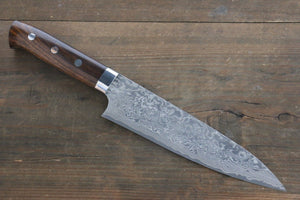 Takeshi Saji R2/SG2 Black Damascus Gyuto Japanese Chef Knife 180mm with Iron Wood handle
