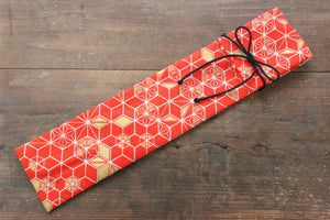 Japanese Style Knife Roll RedHexagon 1 Pocket