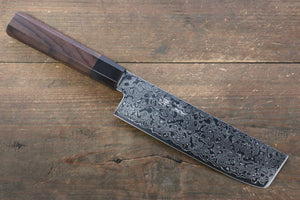 Seisuke AUS10 Damascus Nakiri Japanese Knife 165mm with Shitan Handle