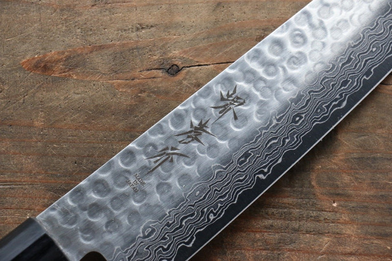 Sakai Takayuki 45 Layer Damascus Japanese Chef's Gyuto, Santoku & Petty Knife with Shitan Handle Set - Japanny - Best Japanese Knife