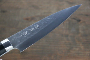 Takeshi Saji SRS13 Hammered Petty Japanese Chef Knife 130mm with Black Micarta handle