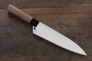 Magnolia Saya Sheath for Petty Chef's Knife with Ebony Pin-135mm (Nashiji)