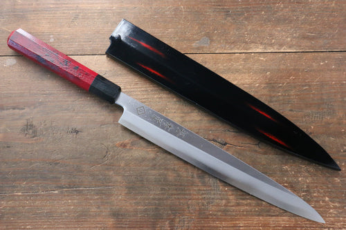 Sakai Takayuki Yanagiba Knife World Sushi Skills Institute Special Edition Red - Japanny - Best Japanese Knife