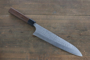 Yoshimi Kato Silver Steel No.3 Hammered Gyuto Japanese Chef Knife 210mm with Ironwood Handle
