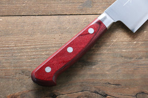 Takamura Knives R2/SG2 Gyuto Japanese Knife 180mm with Red Pakka wood Handle