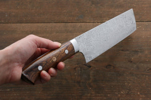 Takeshi Saji R2/SG2 Diamond Finish Nakiri Japanese Knife 170mm with Ironwood Handle