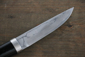 Takeshi Saji Ichimonji White Steel Damascus Japanese Knife 110mm With Case