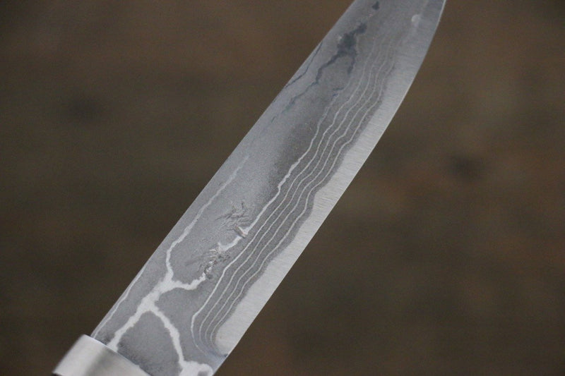 Takeshi Saji Ichimonji White Steel Damascus Japanese Knife 110mm With Case - Japanny - Best Japanese Knife