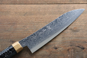 Yu Kurosaki R2/SG2 Damascus Small Santoku Japanese Knife 155mm with Gold Lacquered Handle
