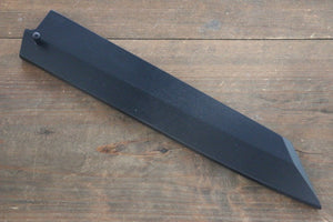 Black Saya Sheath for Kiritsuke Yanagiba Knife with Plywood Pin-240mm